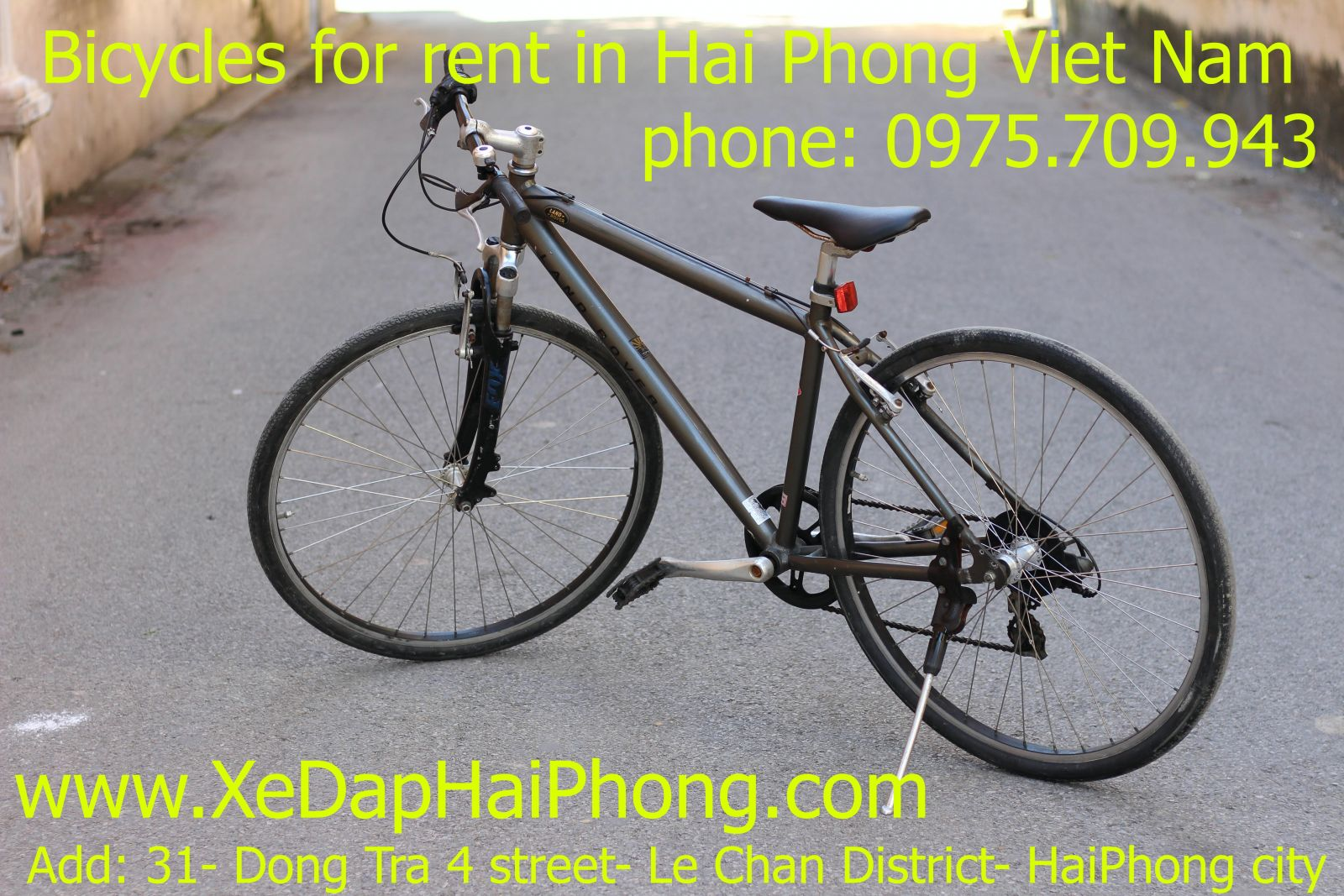 Bicycles for rent in Hai Phong Viet Nam