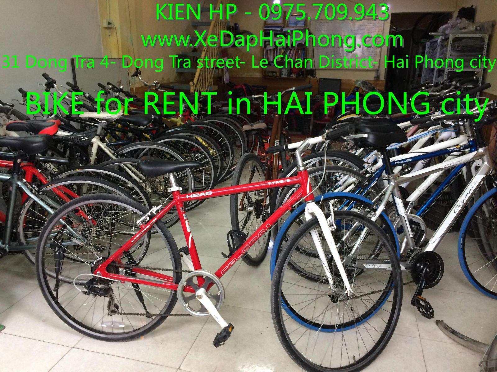 bike for rent in hai phong city